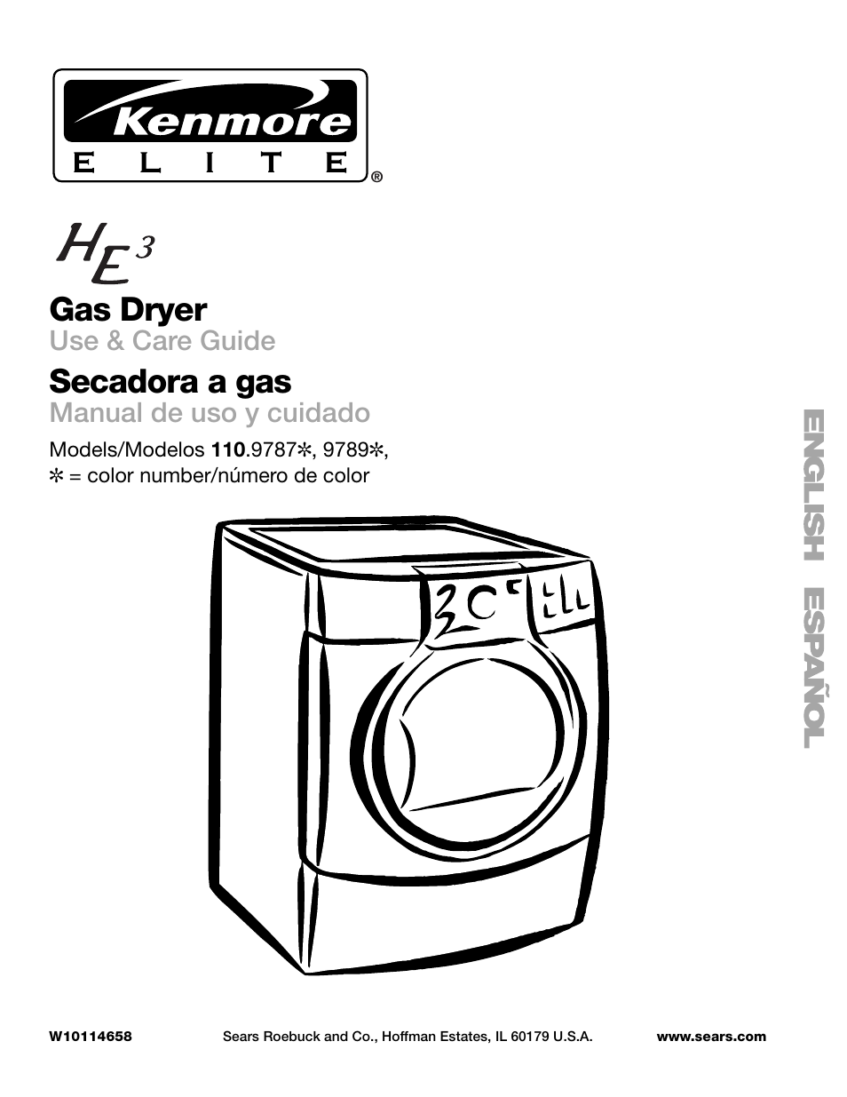 Kenmore He3 Dryer Manual Schematics