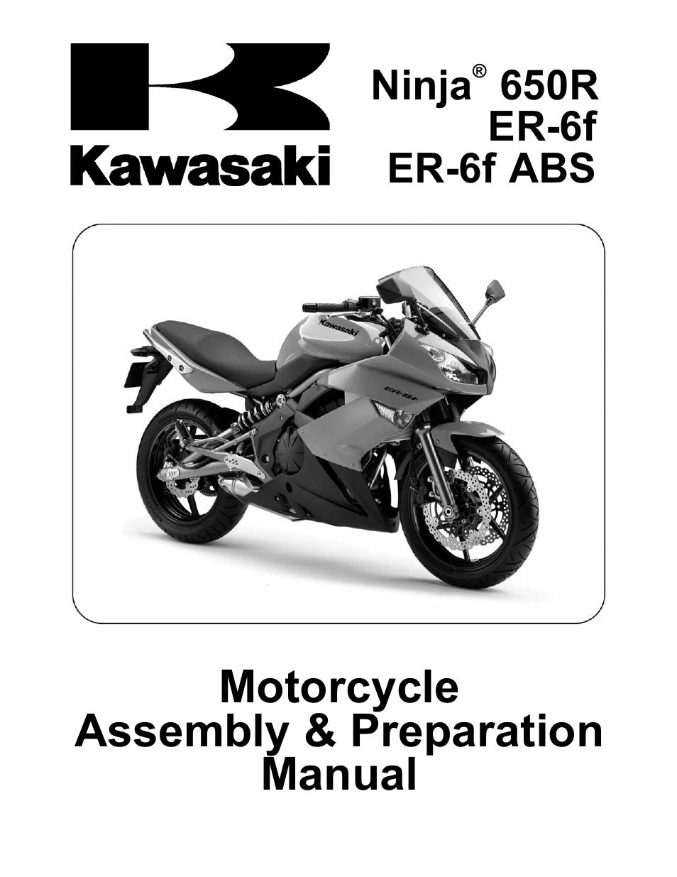 Kawasaki Ninja 650r User Manual 32 Pages Also For Ninja Er 6f