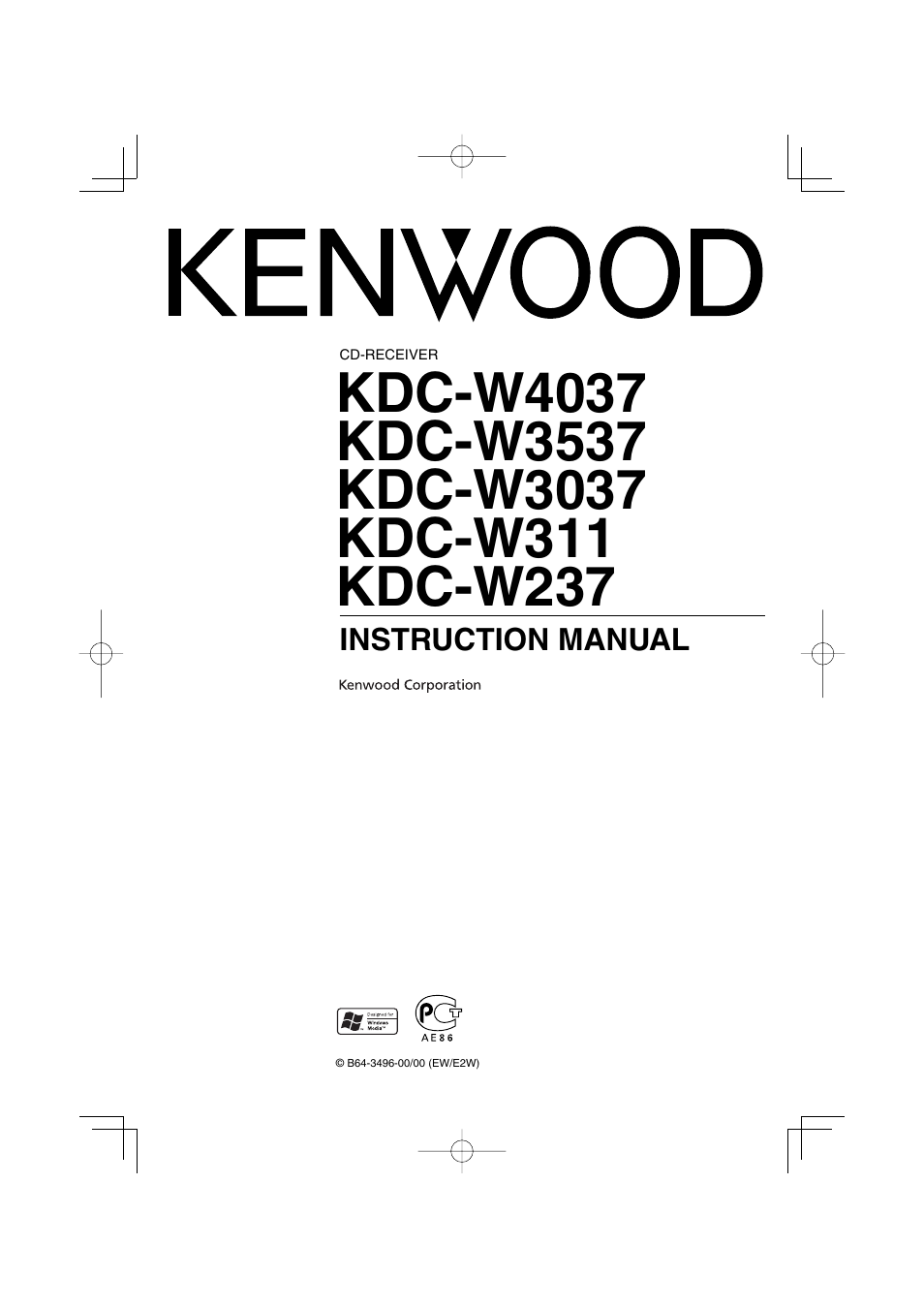 kenwood kdc w4037 user manual 36 pages also for kdc w237 kdc rh manualsdir com Kenwood KC 991 User Manuals Kenwood KDC 248U Manual