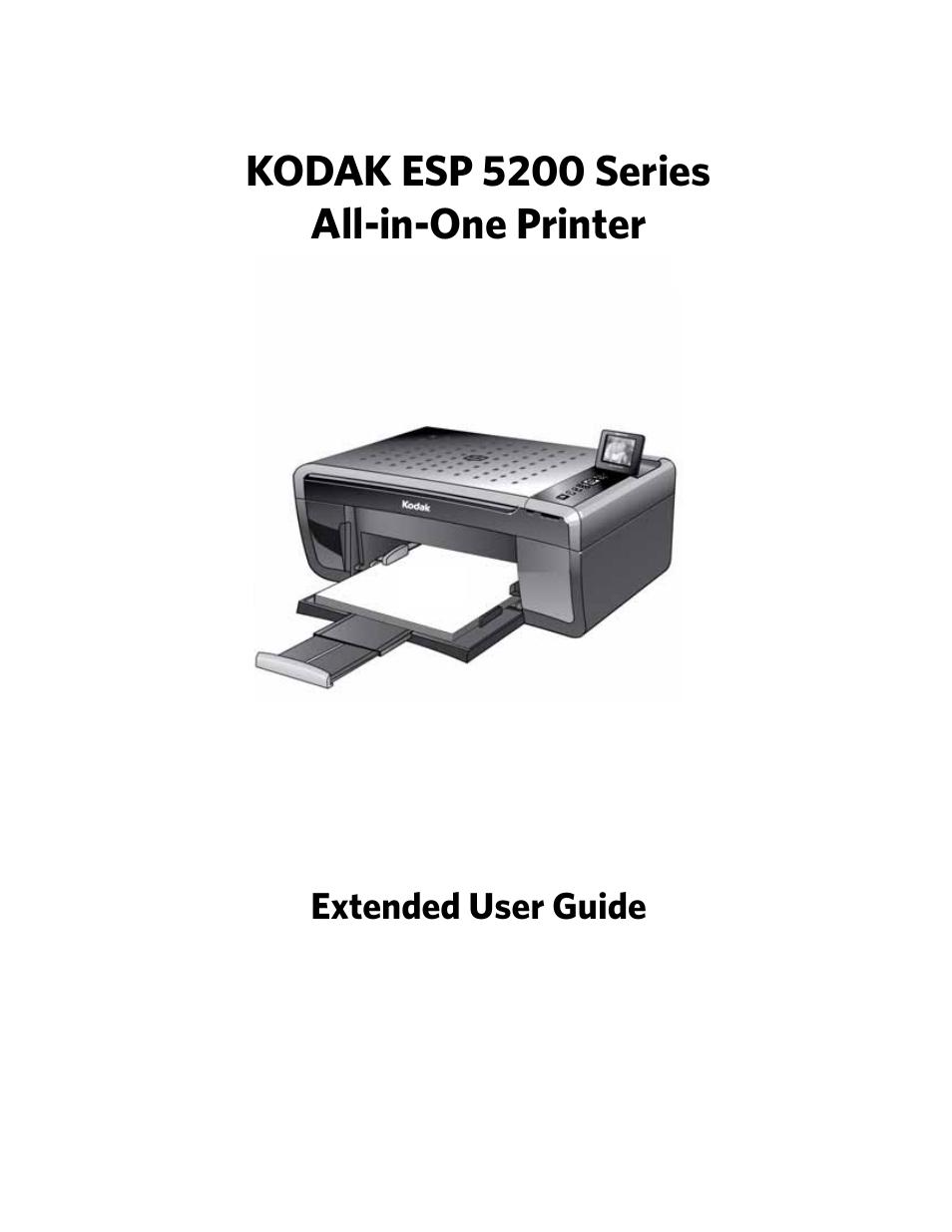 kodak esp 5200 user manual 73 pages also for esp 5210 esp 5250 rh manualsdir com Kodak Printers 5200 Series Kodak ESP 5200 Wireless
