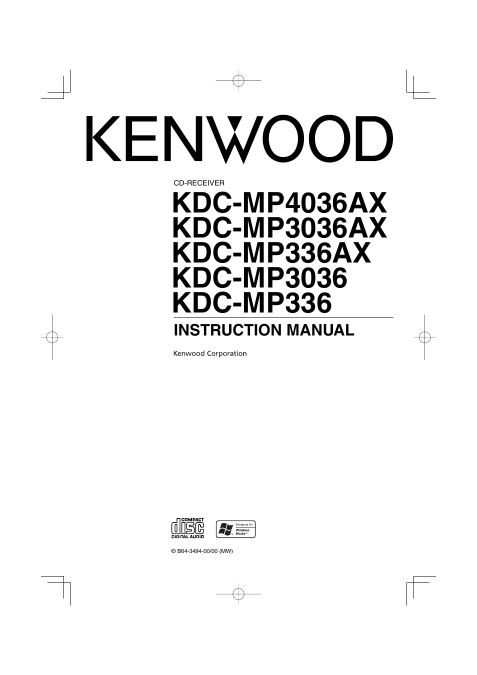 kenwood kdc mp336ax user manual 28 pages also for kdc mp3036ax rh manualsdir com Kenwood 617 DVD Owner's Manual Kdc-Mp Kenwood User Manuals