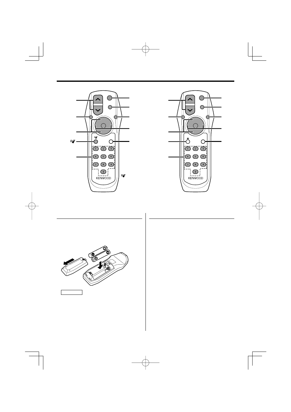 basic operations of remote control loading and replacing the rh manualsdir com Kenwood Car Stereo Manual Kenwood eXcelon Manual