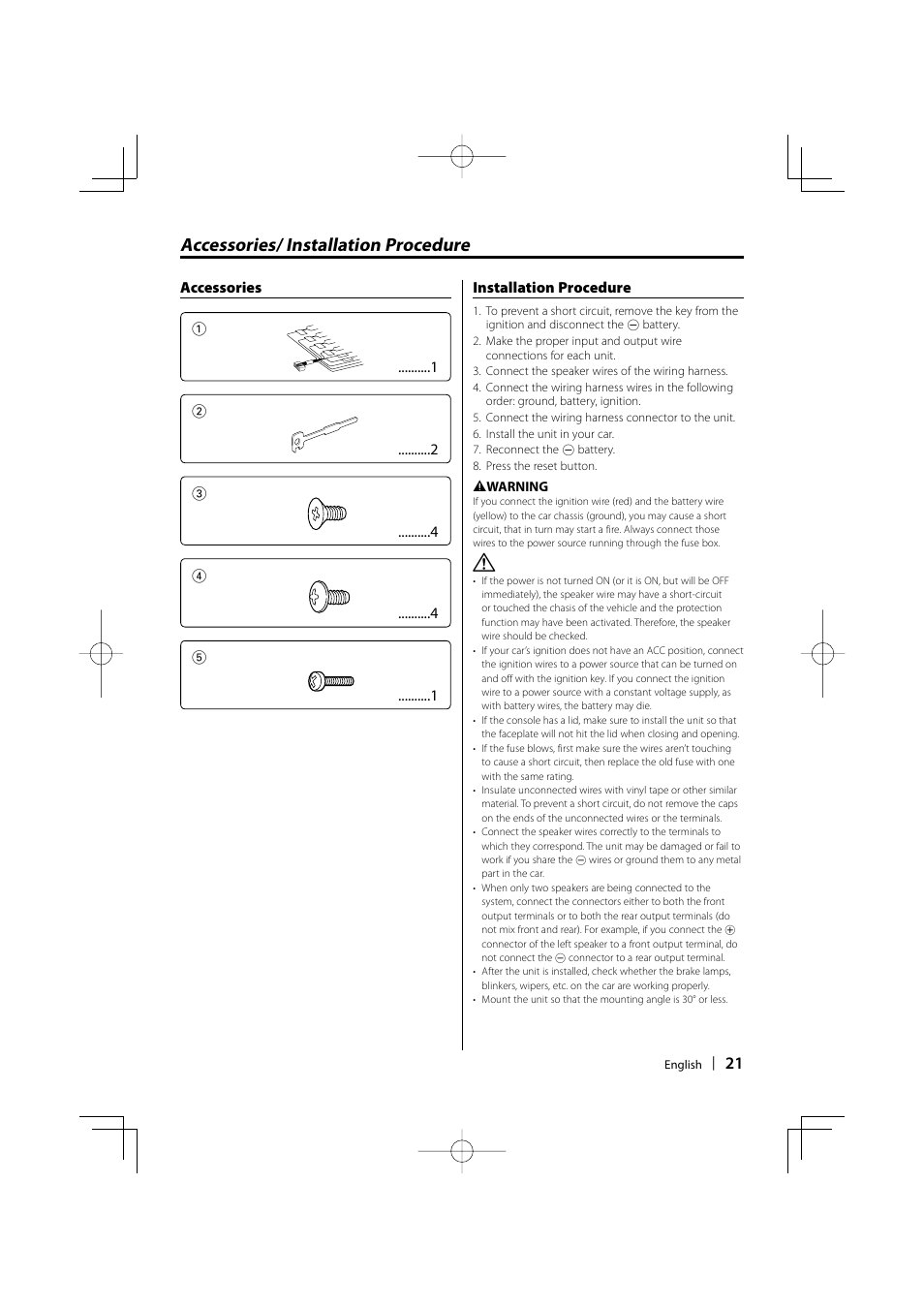 accessories installation procedure kenwood kdc mp336ax user rh manualsdir com KDC-252U Kenwood User Manuals Kenwood Car Stereo Manual