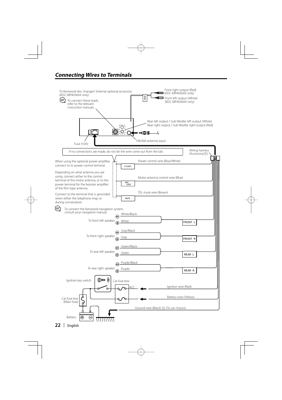 Wiring Diagram For Kenwood Kdc 252u : Kenwood kdc mp u wiring harness imageresizertool