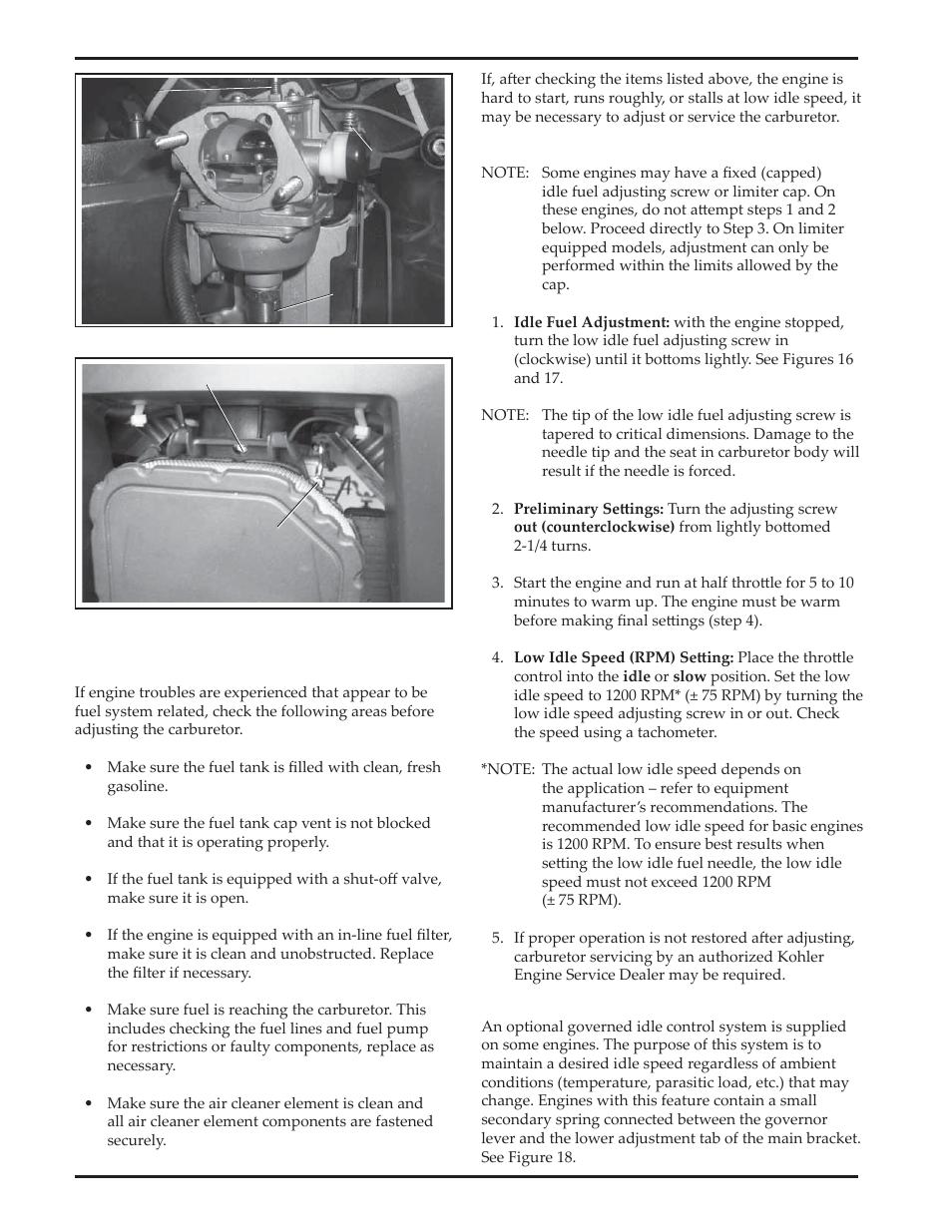 kohler courage sv720 user manual page 12 20 original mode rh manualsdir com Kohler Engine Parts Catalog Kohler Generators Service Manuals