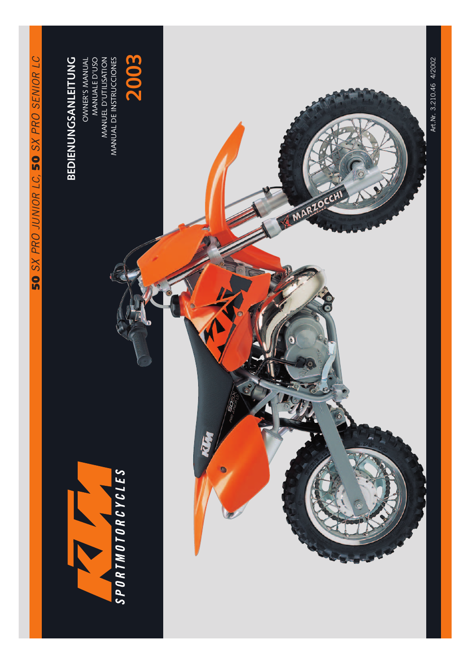 KTM 50 SX PRO SENIOR LC User Manual | 35 pages | Also for: 50 SX PRO JUNIOR  LC