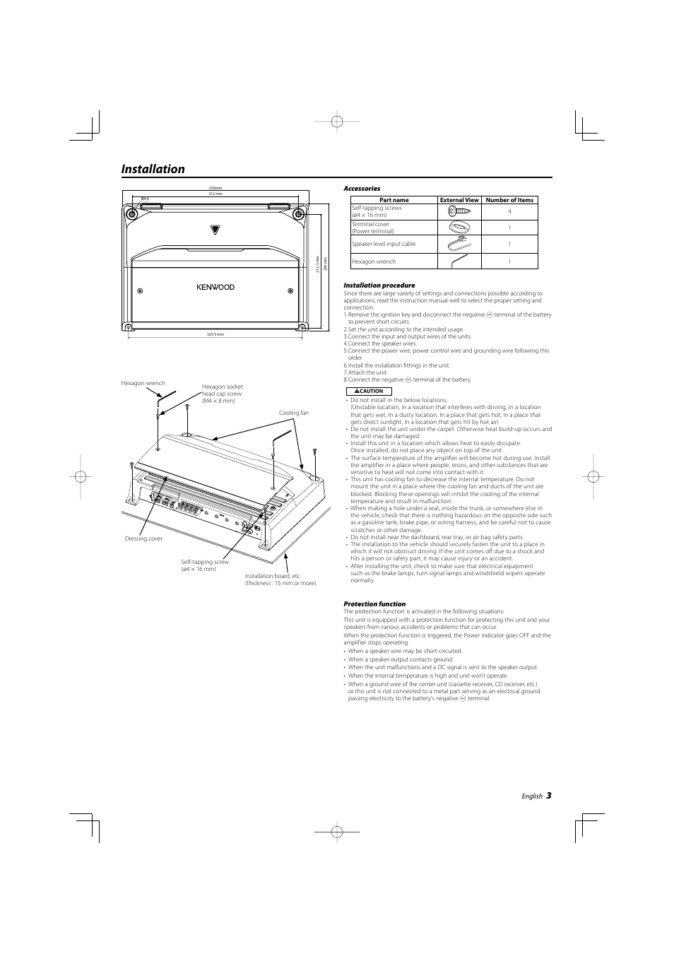 installation kenwood kac 7204 user manual page 3 16 rh manualsdir com