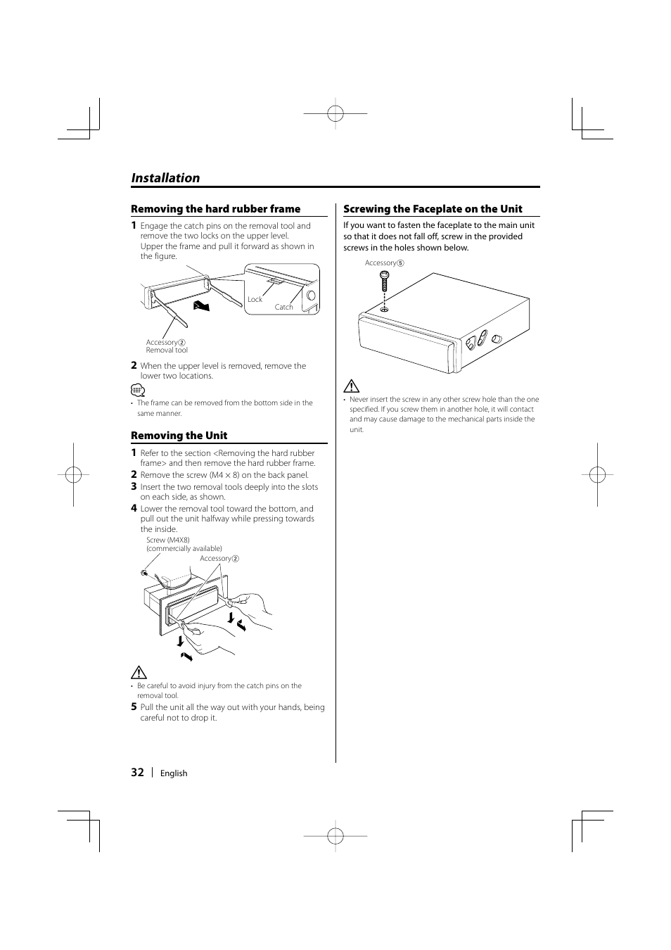 Installation | Kenwood KDC-MP435U User Manual | Page 32 / 108