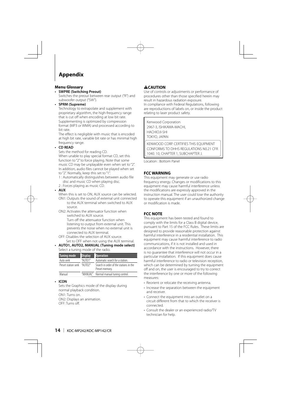 Kenwood Kdc Mp142 Manual Wiring Diagram 142 Appendix User Page 14 56 Original Mode Rh Manualsdir Com Sleeve Protect