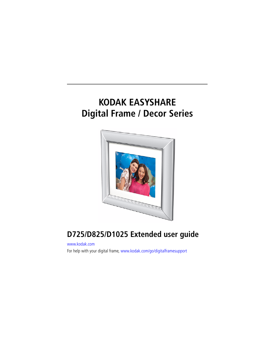 Kodak EASYSHARE D725 User Manual | 36 pages | Also for: EASYSHARE ...