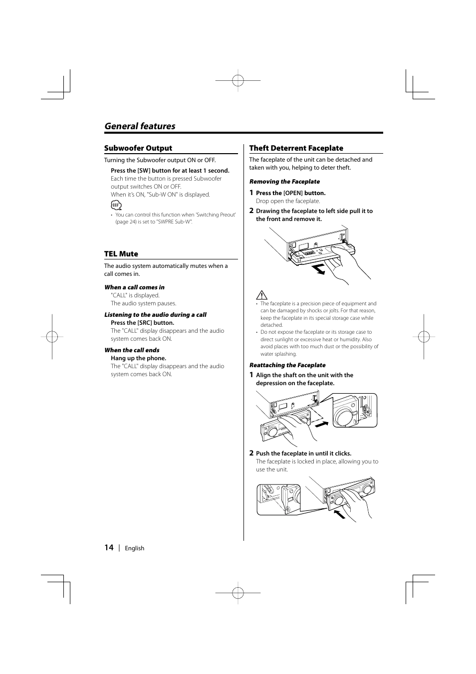 general features kenwood ez500 user manual page 14 112 rh manualsdir com Kenwood Ez700sr Kenwood EZ500 H3