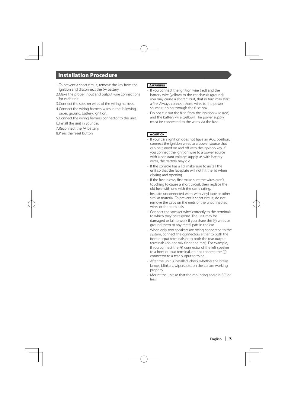 Installation procedure | Kenwood DDX7017 User Manual | Page ... on
