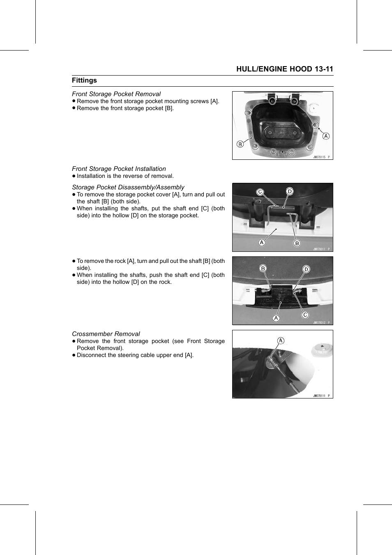 Front storage pocket removal, Front storage pocket