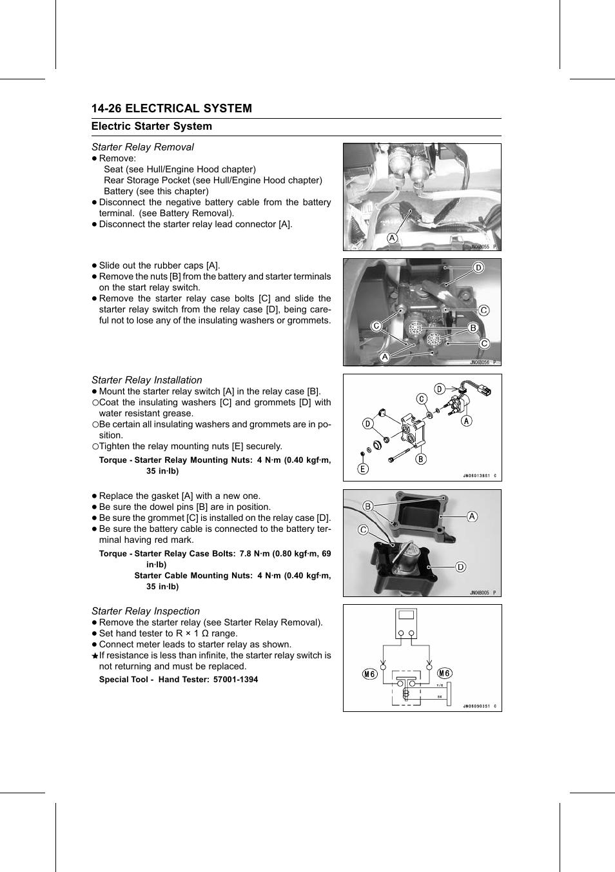 Starter Relay Removal Installation Torque Kawasaki Switch Ebay Inspection Special Tool