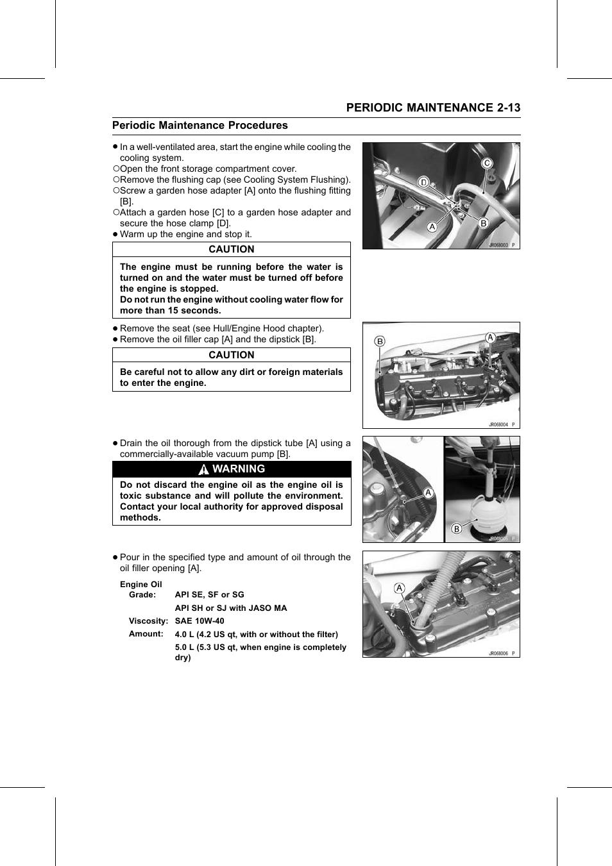 Engine oil   Kawasaki STX-15F User Manual   Page 37 / 438
