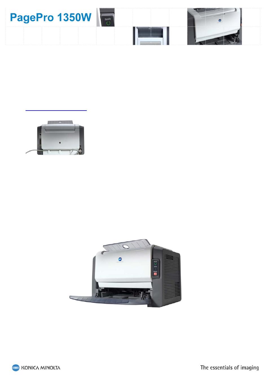 introduction konica minolta pagepro 1350w user manual page 4 18 rh manualsdir com Konica Minolta Bizhub 350 Konica Minolta Printers