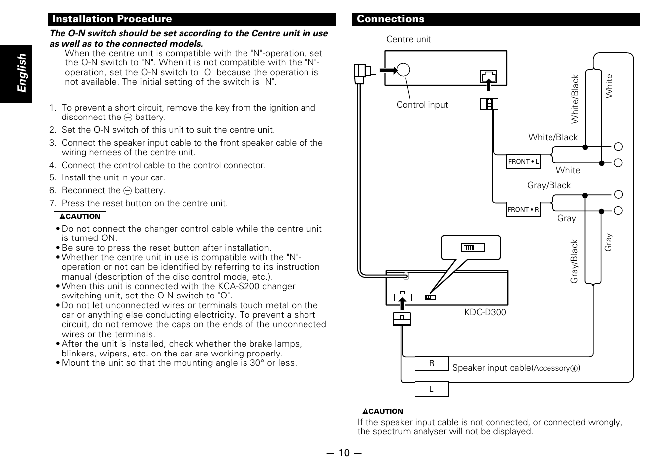 Wiring Diagram Kdc D300 Cd Player Libraries Kenwood Model X759 Installation Procedure Connections English Userinstallation