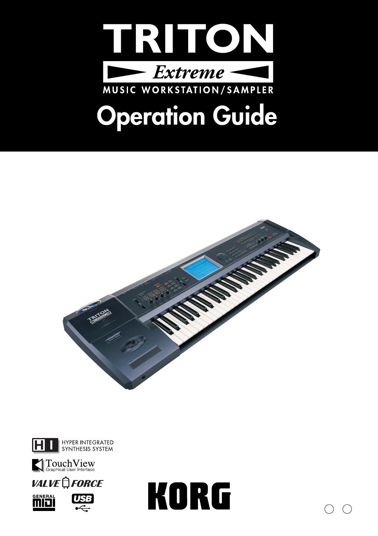 KORG TRITON Extreme music workstation/sampler User Manual | 148 pages