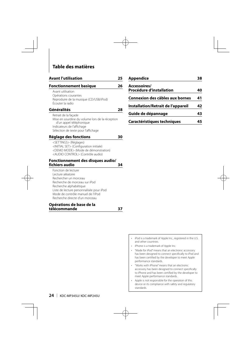 Kenwood KDC-MP345U User Manual | Page 24 / 68