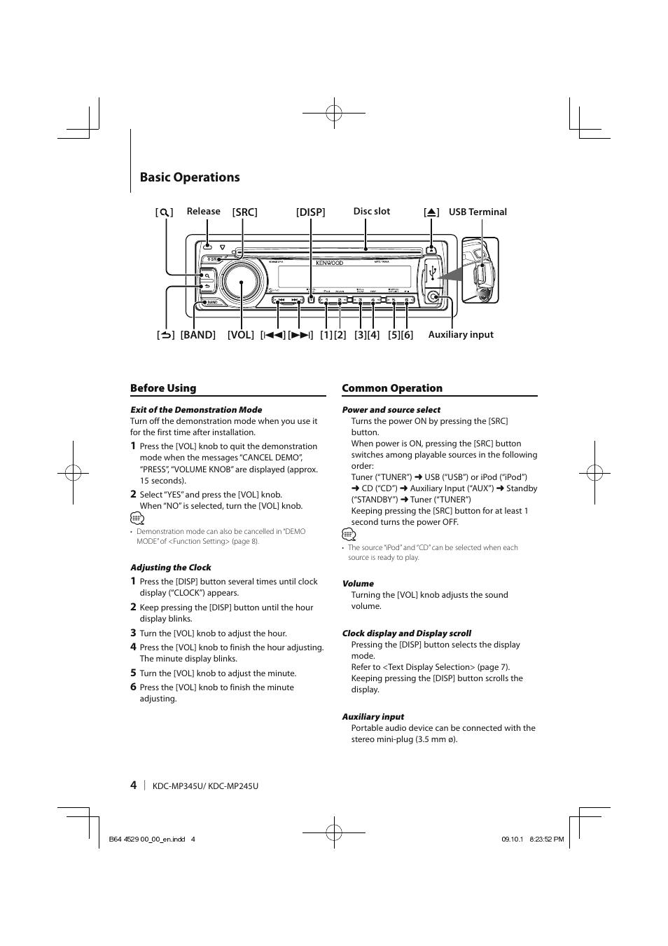kdc mp345u Array - basic operations kenwood kdc mp345u user manual page 4  68 rh manualsdir ...