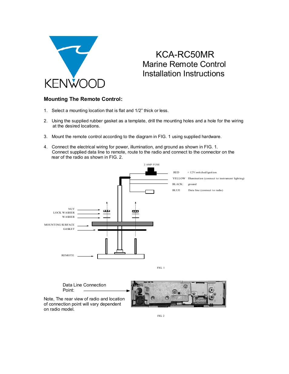 Kenwood Marine Remote Control Kca