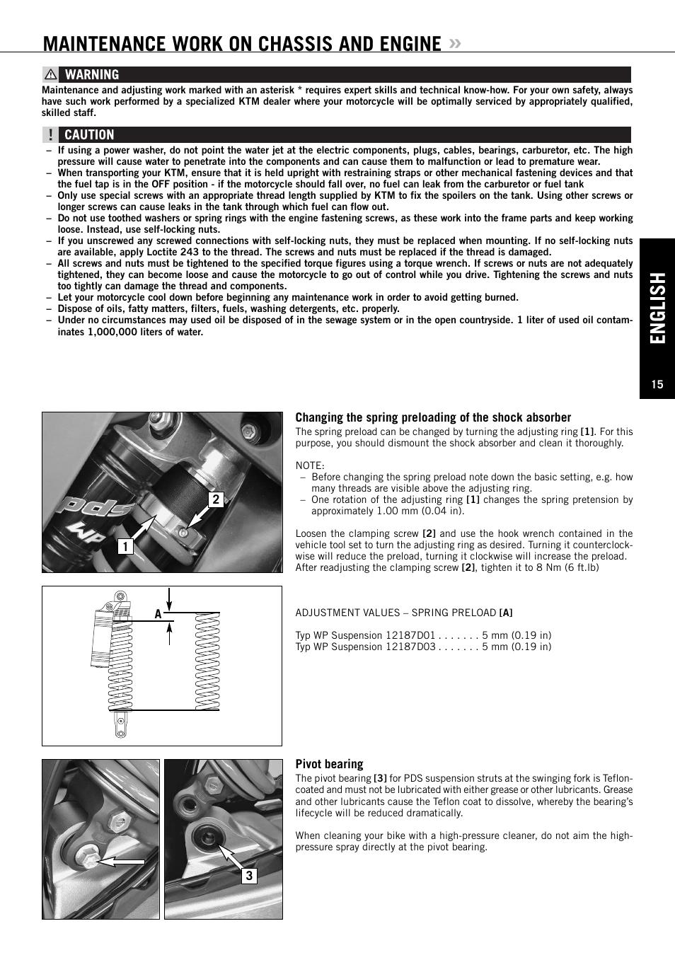 english maintenance work on chassis and engine ktm 144 sx user rh manualsdir com ktm 690 user manual ktm instruction manual