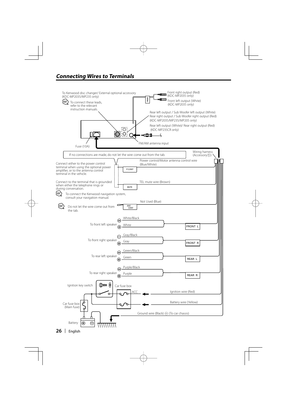 kenwood kdc mp205 wiring diagram