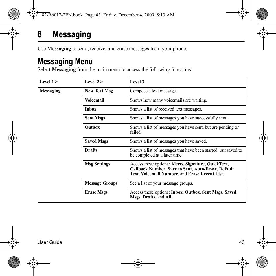 8messaging messaging menu kyocera tomo s2410 user manual page rh manualsdir com New Tomos Moped Tomos Parts