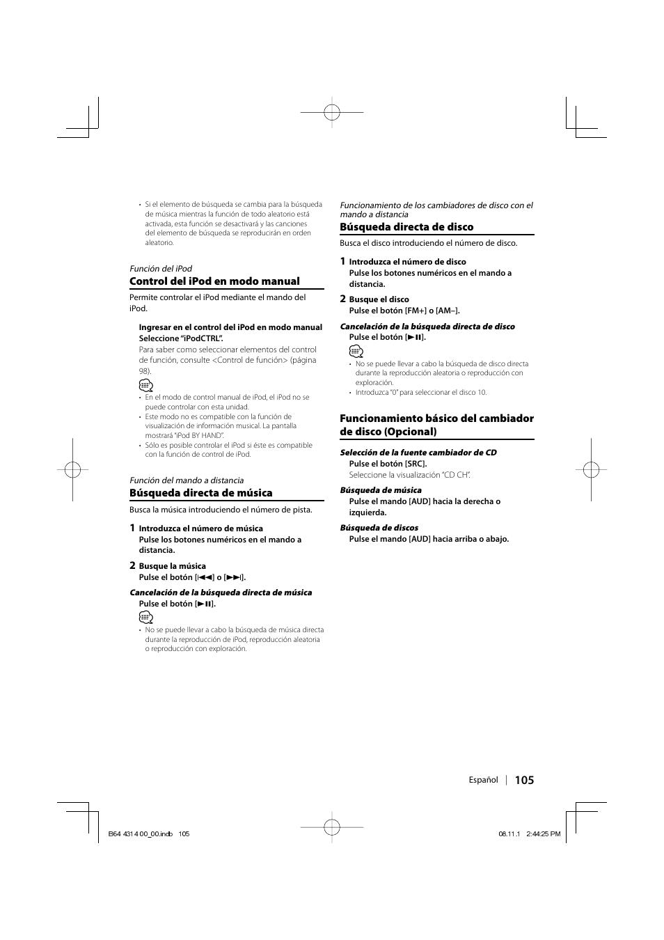 kenwood kdc bt742u user manual page 105 140 original mode rh manualsdir com  kdc-mp442u manual
