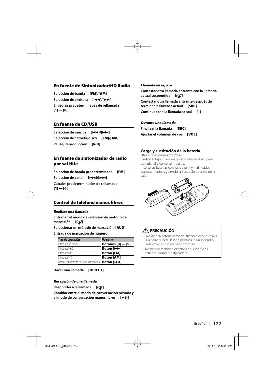 kenwood kdc bt742u user manual page 127 140 original mode rh manualsdir com  kdc-mp442u manual