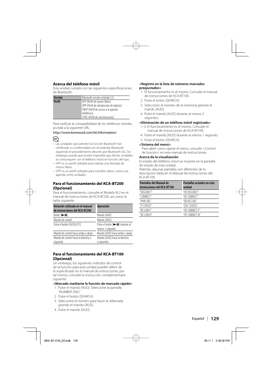 kenwood kdc bt742u user manual page 129 140 original mode rh manualsdir com
