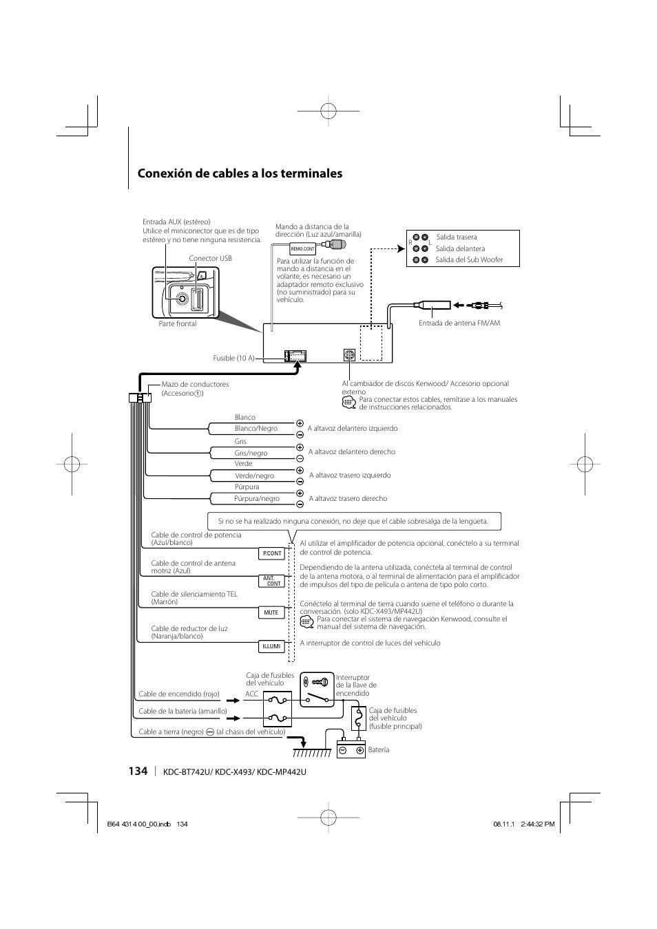 conexi n de cables a los terminales kenwood kdc bt742u user manual rh manualsdir com kenwood kdc-bt742u manual