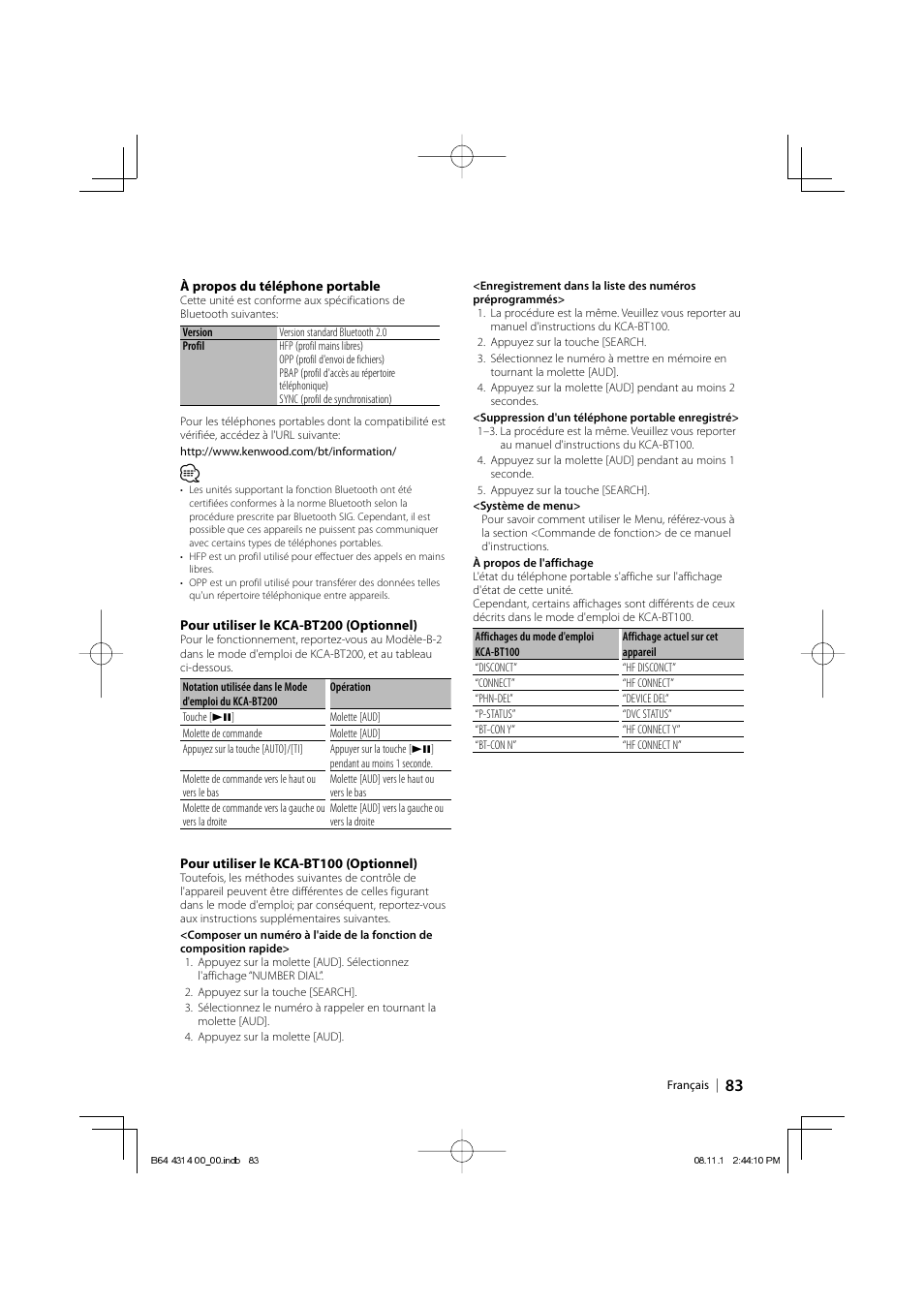 kenwood kdc bt742u user manual page 83 140 original mode rh manualsdir com Kenwood eXcelon KDC-X493 kenwood excelon kdc-x493 owners manual