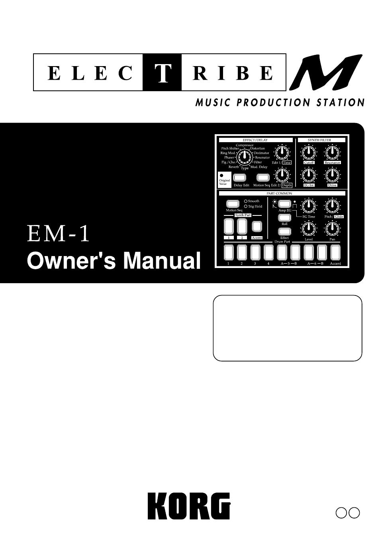 KORG Electribe EM-1 User Manual   56 pages