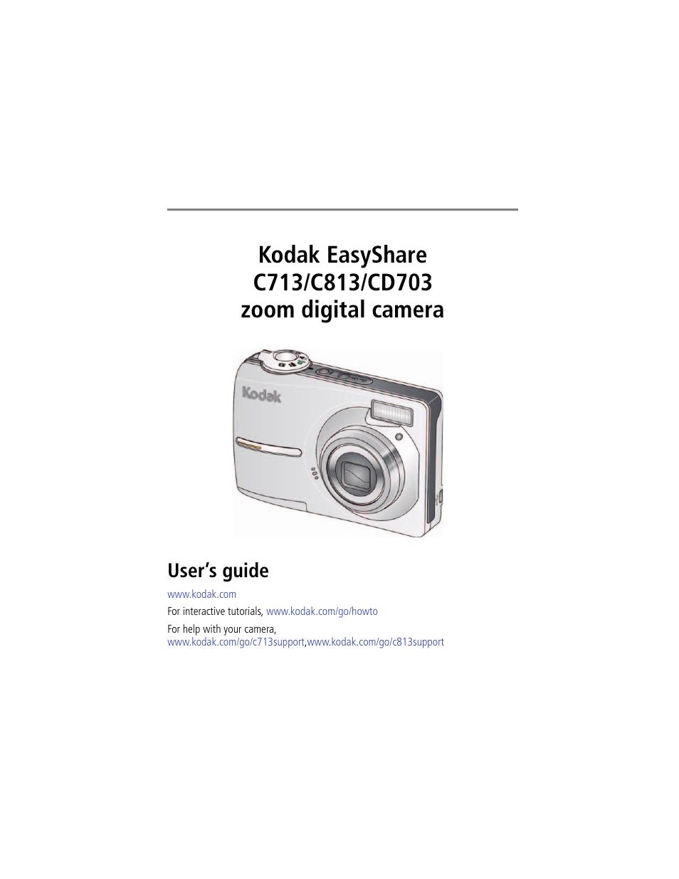kodak easyshare c813 user manual 70 pages also for easyshare rh manualsdir com Kodak EasyShare C813 Software Kodak C713 Camera