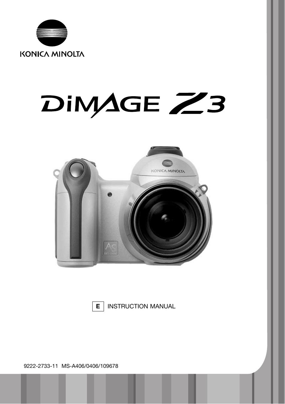 konica minolta dimage z3 user manual 124 pages rh manualsdir com Minolta DiMAGE XT Digital Camera Minolta DiMAGE XT Digital Camera