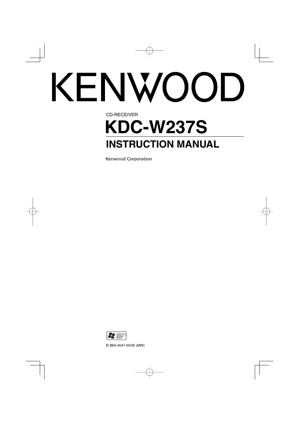 kenwood kdc w237s user manual 20 pages rh manualsdir com Old Kenwood Car Stereo Models Kenwood Receiver Manual