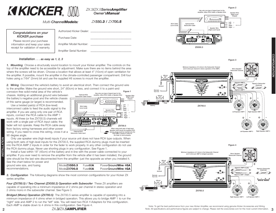 kicker zx7005 page2 kicker zx700 5 user manual page 2 10 Kicker 6 Channel Amp at gsmx.co
