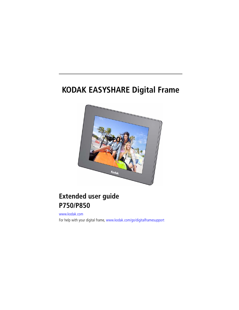 Kodak EasyShare P750 User Manual | 49 pages | Also for: EasyShare P850