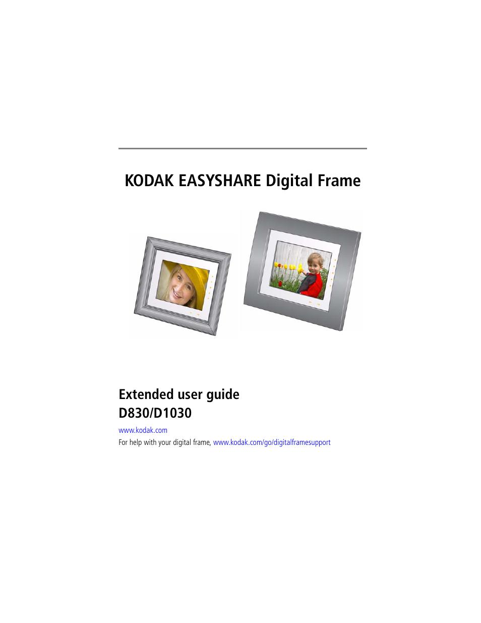kodak d830 user manual 56 pages also for easyshare d1030 rh manualsdir com kodak easyshare sv710 digital picture frame manual Kodak EasyShare Picture Frame