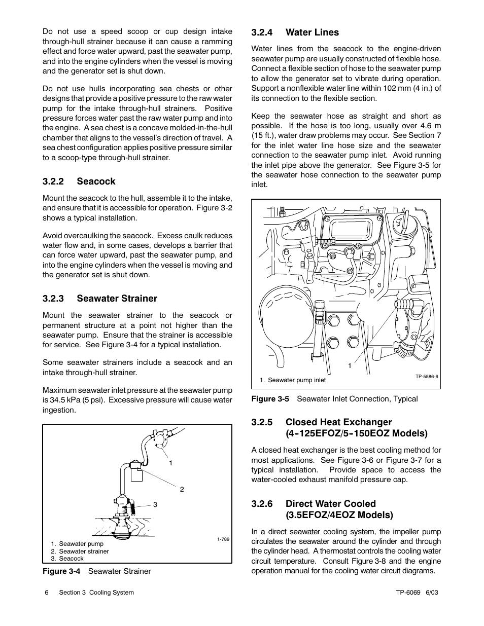 Kohler Marine Generator Sets 11efoz 13eoz User Manual Page 16 92 Plumbing Diagram Below Showing The Utilisation Of An Enginedriven Also For 4efoz 5eoz 20efoz 24eoz