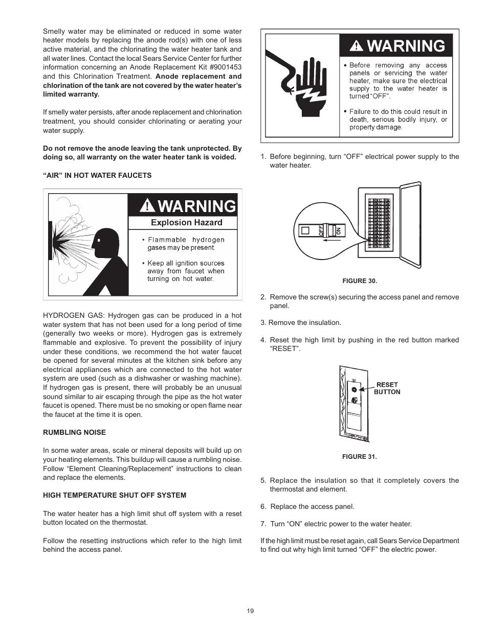 Kenmore Economizer 5 Gas Water Heater Manual Nemetasaufgegabelt Electric Wiring Diagram The Economizertm 6 Compact 15331604 User Page 19