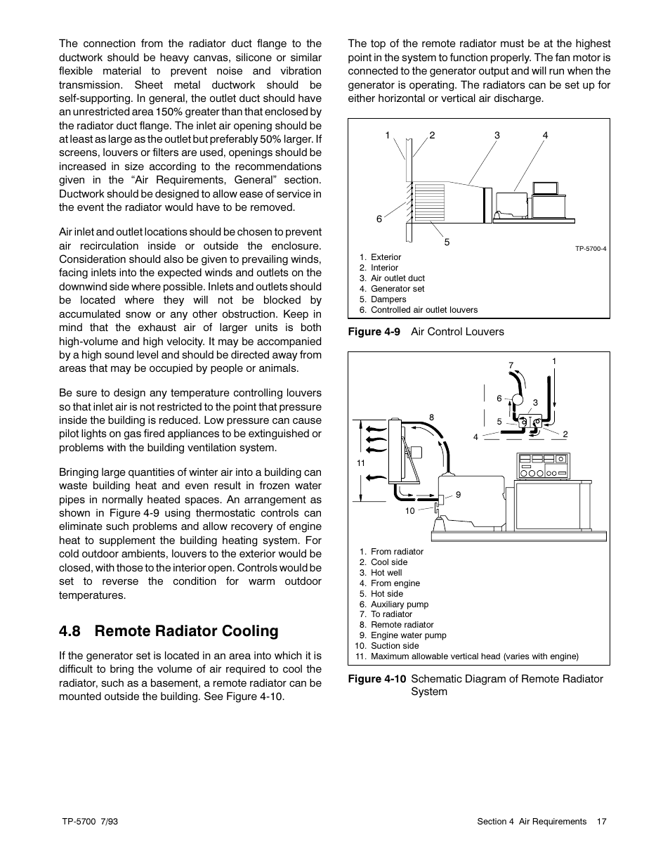 8 Remote Radiator Cooling Kohler Generator Sets 20 2800 Kw User Schematic Manual Page 29 56