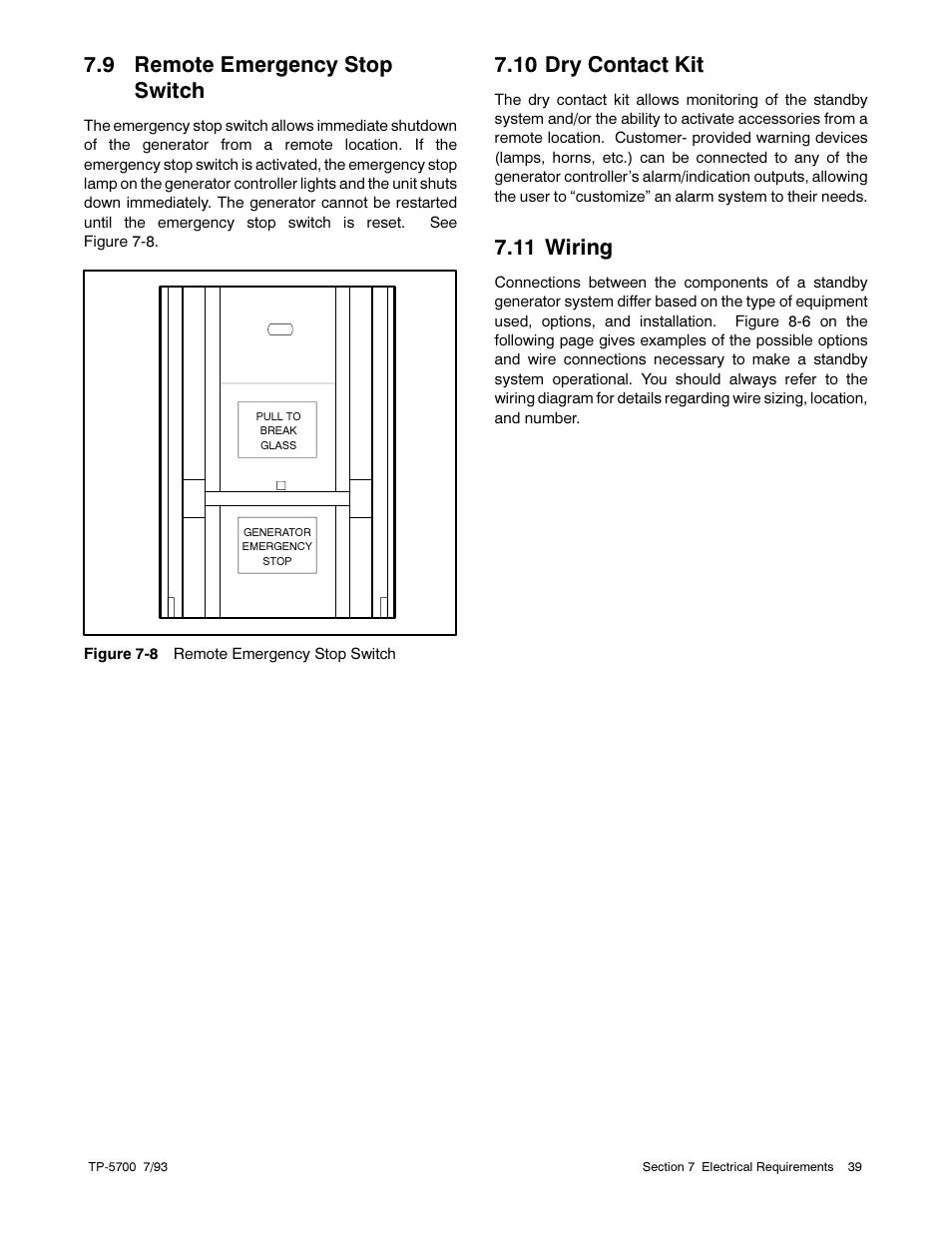 emergency stop switch wiring diagram 9 remote emergency stop switch  10 dry contact kit  11 wiring  9 remote emergency stop switch  10 dry