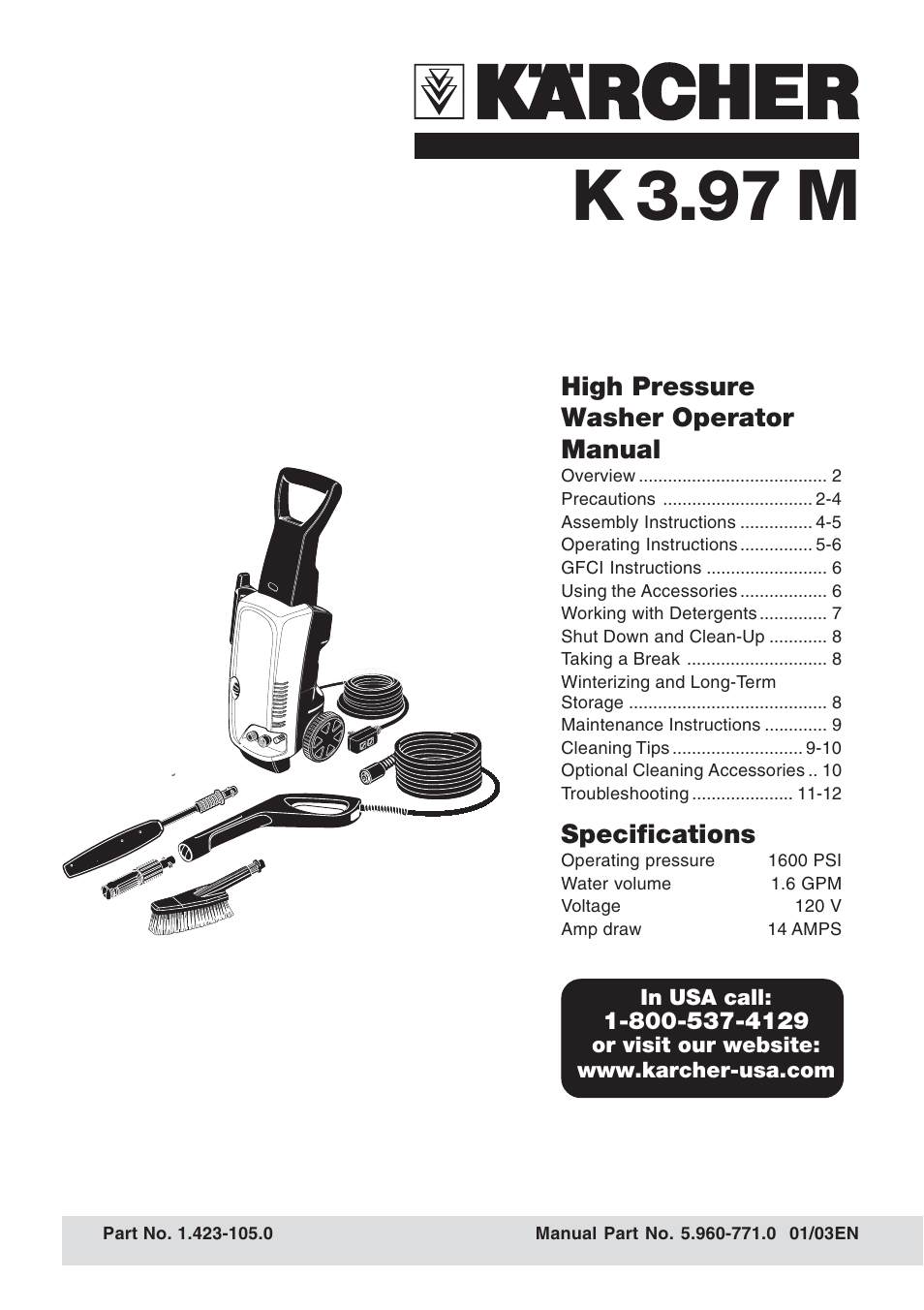 karcher k 3 97 m user manual 12 pages rh manualsdir com karcher high pressure washer service manual karcher pressure washer service manual pdf