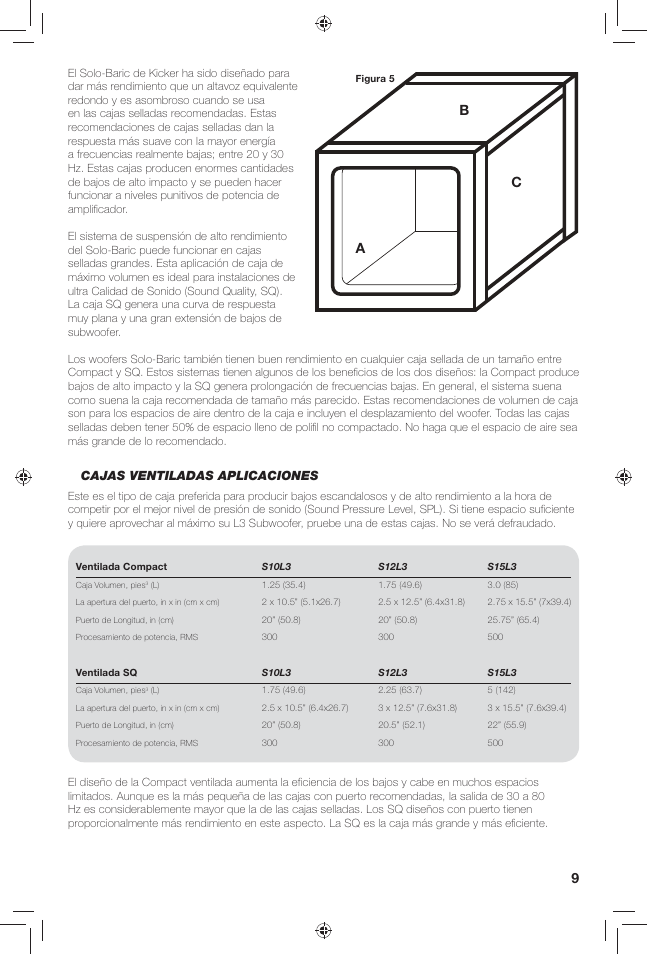 ba c cajas ventiladas aplicaciones kicker solo baric s12l3 user rh manualsdir com Instruction Manual Book Operators Manual