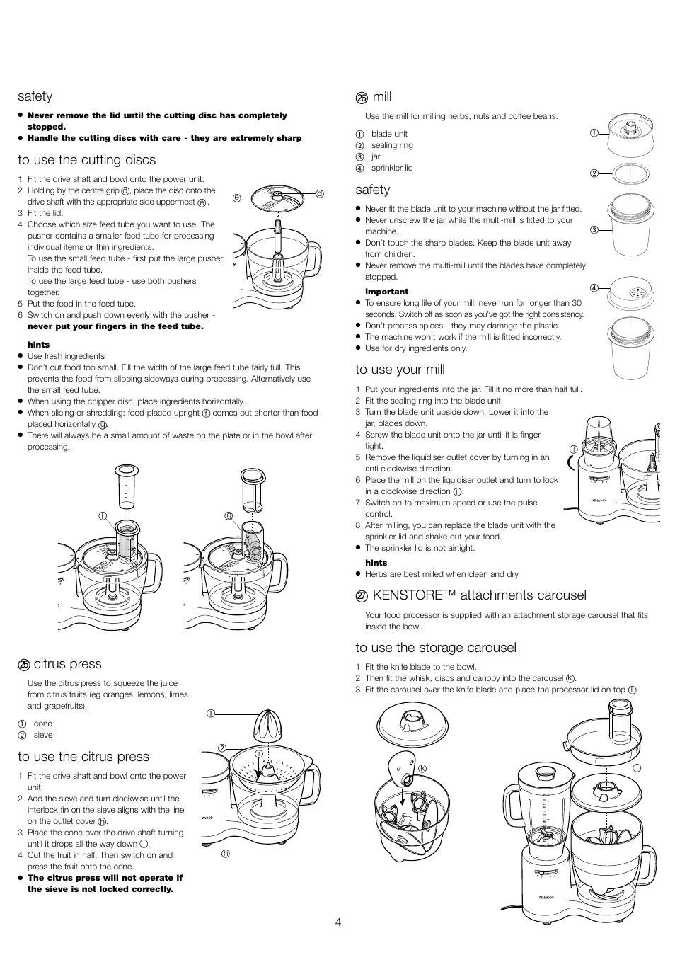 safety citrus press mill kenwood fp520 series user manual page rh manualsdir com