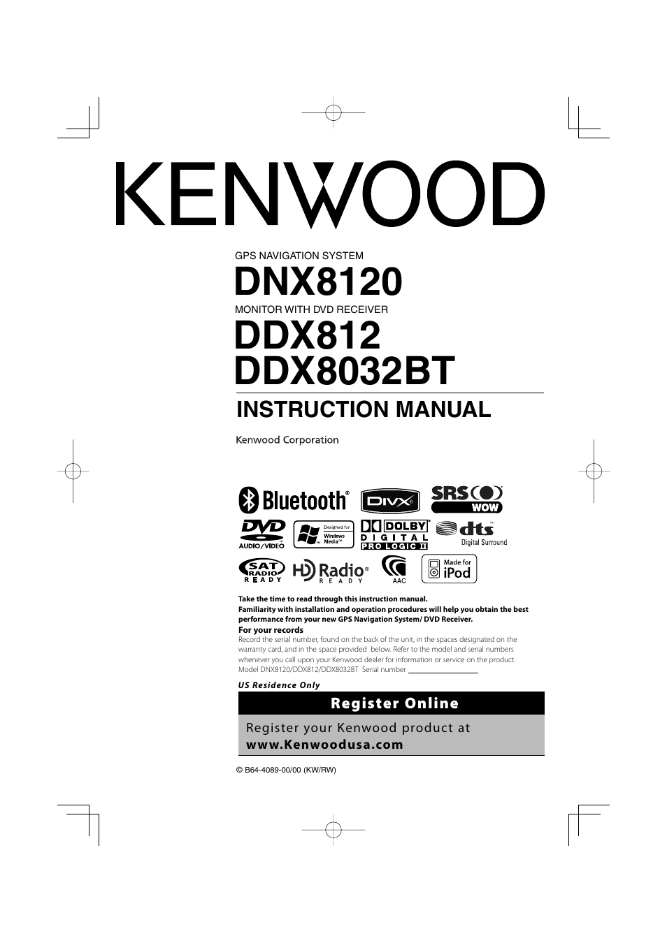 kenwood excelon ddx812 user manual 112 pages rh manualsdir com Kenwood DDX812 User Manual Kenwood DDX812 Problems