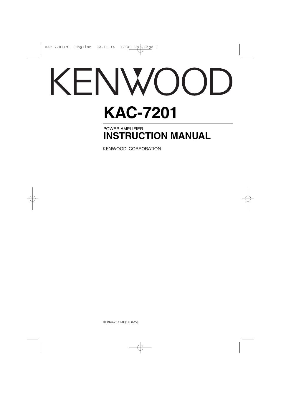 kenwood kac 7201 user manual 12 pages rh manualsdir com Kenwood KAC 720 Kenwood KAC 646