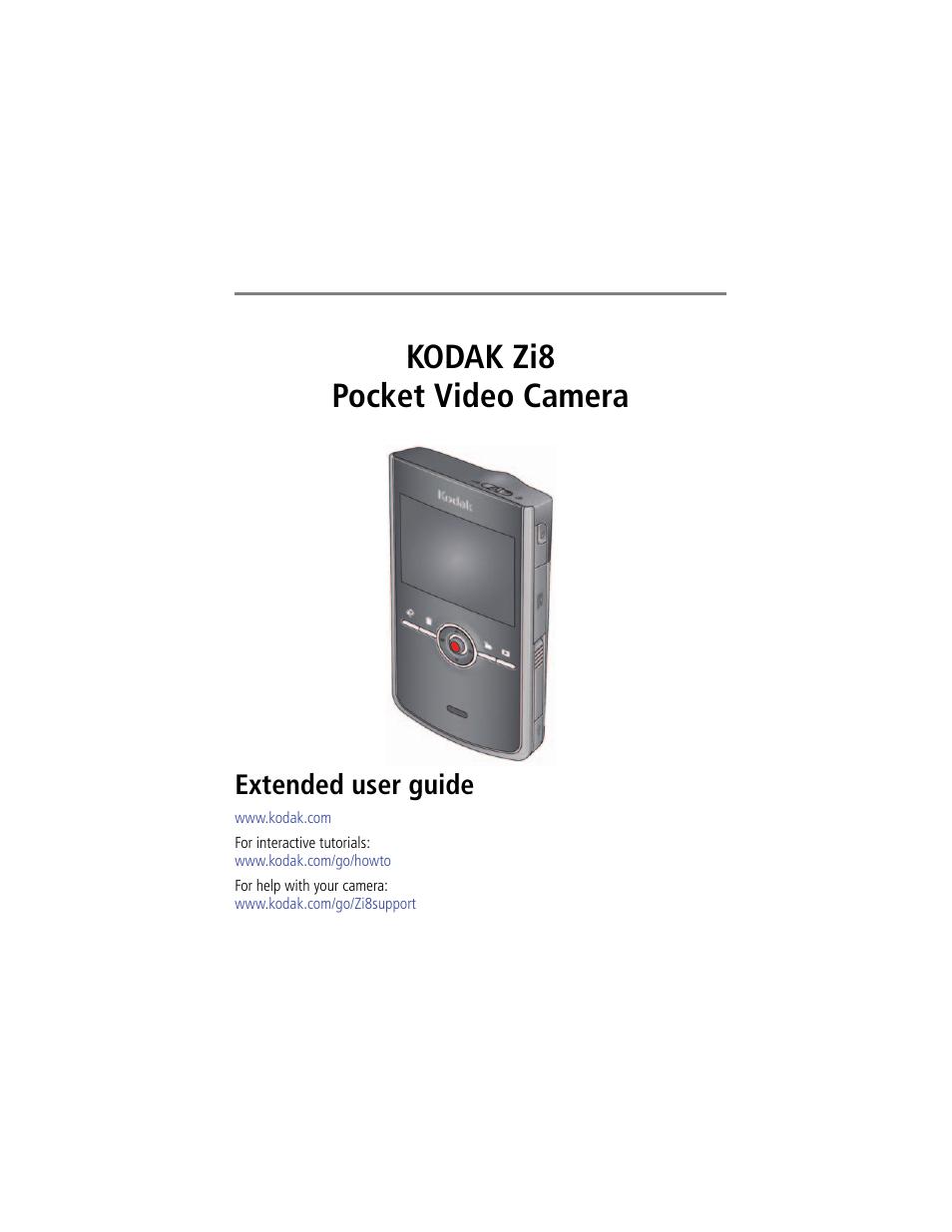 Kodak Zi8 User Manual 34 Pages